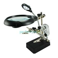 3 Magnifying Lens 5LED Light Magnifier Lamp for Soldering Field with Clip