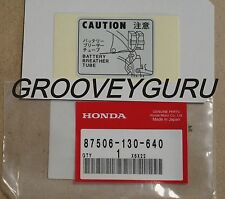 Honda Z50 J1 Z50 JZ Z50 Gorilla Monley  Battery Caution Sticker 87506-130-640