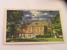 VINTAGE POSTCARD MOONLIGHT SCENE OF COUNTRY CLUBHOUSE HICKORY NC LINEN