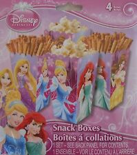 Party Snack Boxes DISNEY PRINCESSES Ariel Treats Birthday Supplies 4 pack S1