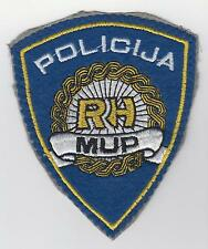 RH MUP REPUBLIC of CROATIA  REGULAR POLICE - sleeve patch old vintage , rarre !