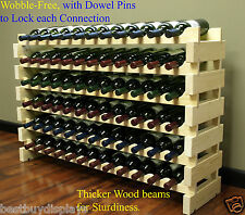 Stackable Wine Rack Storage 72 Bottles, Cellar Display Shelves,  WN84