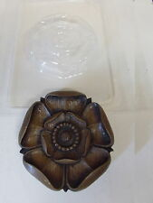 PLASTIC MOULD LARGE TUDOR ROSE CHOCOLATE WAX PLASTER SOAP