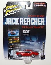 JOHNNY LIGHTNING 2017 REL 3 SILVER SCREEN RED 1970 CHEVY CHEVELLE JACK REACHER