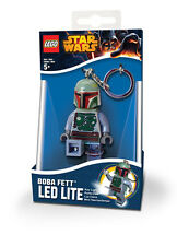 New! LEGO Star Wars BOBA FETT Minifigure Keyring Keychain LED Light Torch