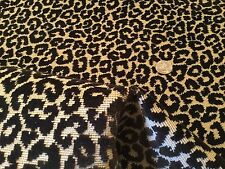 "HIGHLAND COURT ""Chatterly"" Onyx Leopard Gros Point Epingle Fabric! $483 Retail!"