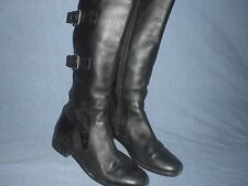 SANZIA JOURNEY PLUS TALL BOOT BLACK LEATHER  WIDER CALF BOOT size 9 M