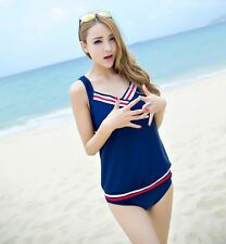 King & Ace │ Korean Fashion Nautical Stripes 3-Pc Swimwear Set - SW-15504