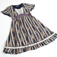 axes femme Victorian style Floral Dress Tunic Lace Classic lolita Kawaii Japan