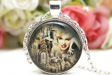 Unisex gifts Pendant Necklace Jewelry Marilyn Monroe commemorate necklace
