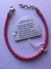 Authentic Chamilia Pink Braided Bracelet. One Size. Never Worn With Tag