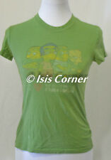 """JUNK FOOD USED VINTAGE LOOK """"I LOVE NERDS"""" SIMPSONS GRAPHIC GREEN T SHIRT SIZE S"""