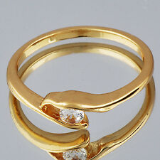 fashion crystal Ring Womens engagement Ring Size 6.5 yellow gold filled