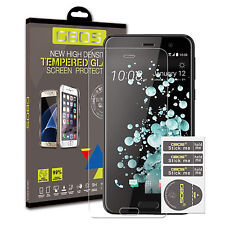 2 Pack gbos ® 100% GENUINE VETRO TEMPERATO ULTRA Screen Protector per HTC U Play