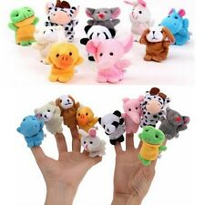 10pcs Zoo Farm Animal Finger Puppet Bed Play Tell Story Plush Cloth Baby Kid Toy