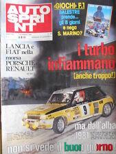 Autosprint n°6 1981 Poster Fotoclub Ligier LAFFITE Jean Pierre Jabouille [P12]