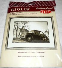"Riolis Counted Cross Stitch Kit THE BEETLE Volkswagon Car 15"" x 10 1/4"""