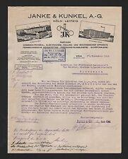 Colonia, carta 1924, finamente mecánica & precisión-soplado Labodigital & Kunkel