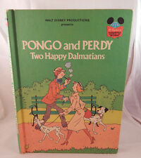 VIntage Childrens book Pongo and Perdy Two Happy Dalmations Walt Disney 1980