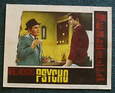 PSYCHO 1960 ORIGINAL LOBBY CARD 2 ALFRED HITCHCOCK ANTHONY PERKINS MARTIN BALSAM