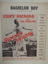 song sheet CLIFF RICHARD Bachelor Boy 1957