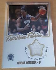 2002-03 Topps Chrome Franchise Fabric Relics #FFCW Chris WEBBER