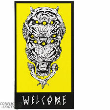 "WELCOME SKATEBOARDS ""Tigre"" Snowboard Tabla de surf Pegatina Adhesiva 10cm"