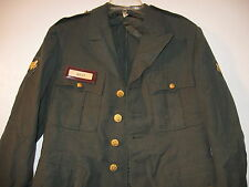 GENUINE US ARMY GREEN 100% WOOL JACKET DATED 1955 SIZE 40 R NAME BOLT 15-E