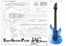 Luthiers Construction Plans for Ibanez S Type guitar by JAGuitars