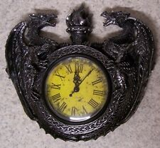 Clock Medieval Dragons Guardians of Chronos wall mount NEW AA battery
