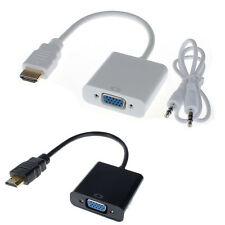 Universal HDMI to VGA Audio Converter Adapter Mit Audio USB Cable 1080P Für PC