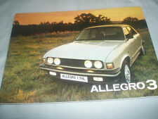 Austin Allegro 3 range brochure Dec 1979
