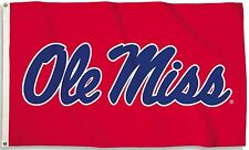 Ole Miss Rebels 3' x 5' Flag (Script Logo Only on Red) NCAA Licensed