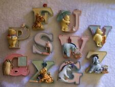 CLASSIC POOH Wall/Shelf ALPHABET LETTERS@Disney..New Items...Limited Stock