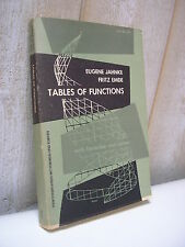 Jahnke & Emde : TABLES OF FUNCTIONS with formulae and curves 1945 Mathématiques
