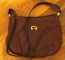 VGC! Vintage Etienne Aigner Leather Burgundy Handbag Purse Shoulder Bag