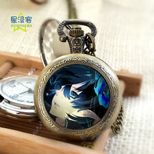 Pocket Watch Okumura Rin Necklace Anime Japan Ao No Blue Exorcist Cosplay Gift