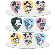 10pcs 0.71mm Musical Basses Mickey Mouse Donald Duck Guitar Picks Mix Plectrums
