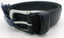 Polo Ralph Lauren 36 Men's $75 Silver Black Belt NWT Embossed Logo 405547278001