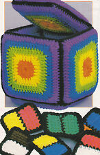 Crochet Pattern ~ Kids WHATNOT BLOCK & DOMINOES Toy Game ~ Instructions
