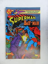1 x Comic - Superman Batman  Nr.9   mit Sammel Ecke   (Apr 1985)     Zustand 1-2