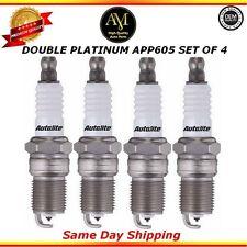 Double Platinum Spark Plugs APP605 Set of 4 Buick Chevrolet Pontiac 2.4L
