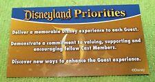 NICE DISNEYLAND CAST MEMBERS  PRIORITIES CARD