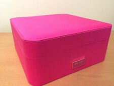 NEW PRADA GIFTBOX PINK/BLACK SILK PILLOW DRESSER JEWELRY VALENTINES DAY GIFT BOX