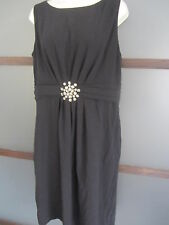 ELIZA J NORDSTROM Shift Dress Black BLING Sz 16 Slimming Chic