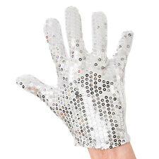 ADULT 1980s 1990s #DISCO SEQUIN GLOVE FANCY DRESS RAVE OUTFIT ACCESSORY