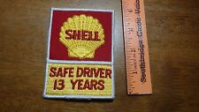 VINTAGE SHELL GASOLINE TRUCKING SAFE DRIVER 13 YEARS TANKER TRUCK  PATCH BX B #1