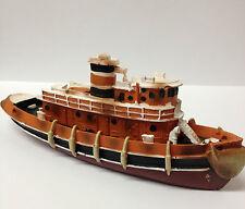 Black, Brown & White ~ Fishing Ferry Boat ~ Fish Tank Aquarium Ornament 59