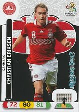 CHRISTIAN ERIKSEN # RISING STAR 1/30 DENMARK CARD PANINI ADRENALYN EURO 2012