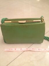 Judith Leiber  Vintage Green purse with cloth tassle strap